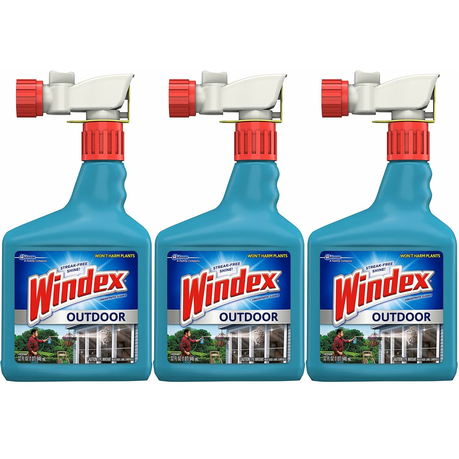 Windex Outdoor Glass and Patio Concentrated Cleaner 32 fl oz (Pack of 3)