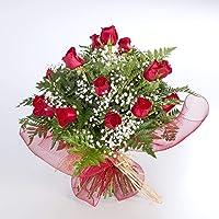 REGALAUNAFLOR-Ramo de 20 rosas naturales-FLORES FRESCAS-ENTREGA EN 24 HORAS-SAN VALENTIN DE MARTES A SABADO-San valentin