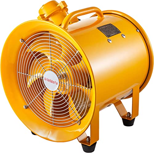 VEVOR Explosion Proof Fan 12 Inch 300mm Utility Blower Fan 550W 220V 60HZ Speed 3450 RPM for Extraction and Ventilation in Potentially Explosive Environments