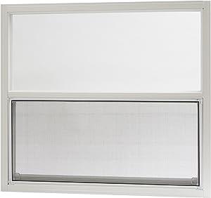 "Park Ridge Products AMHW3027PR Park Ridge White Aluminum Mobile Home Single Hung Window, 30"" x 27"""