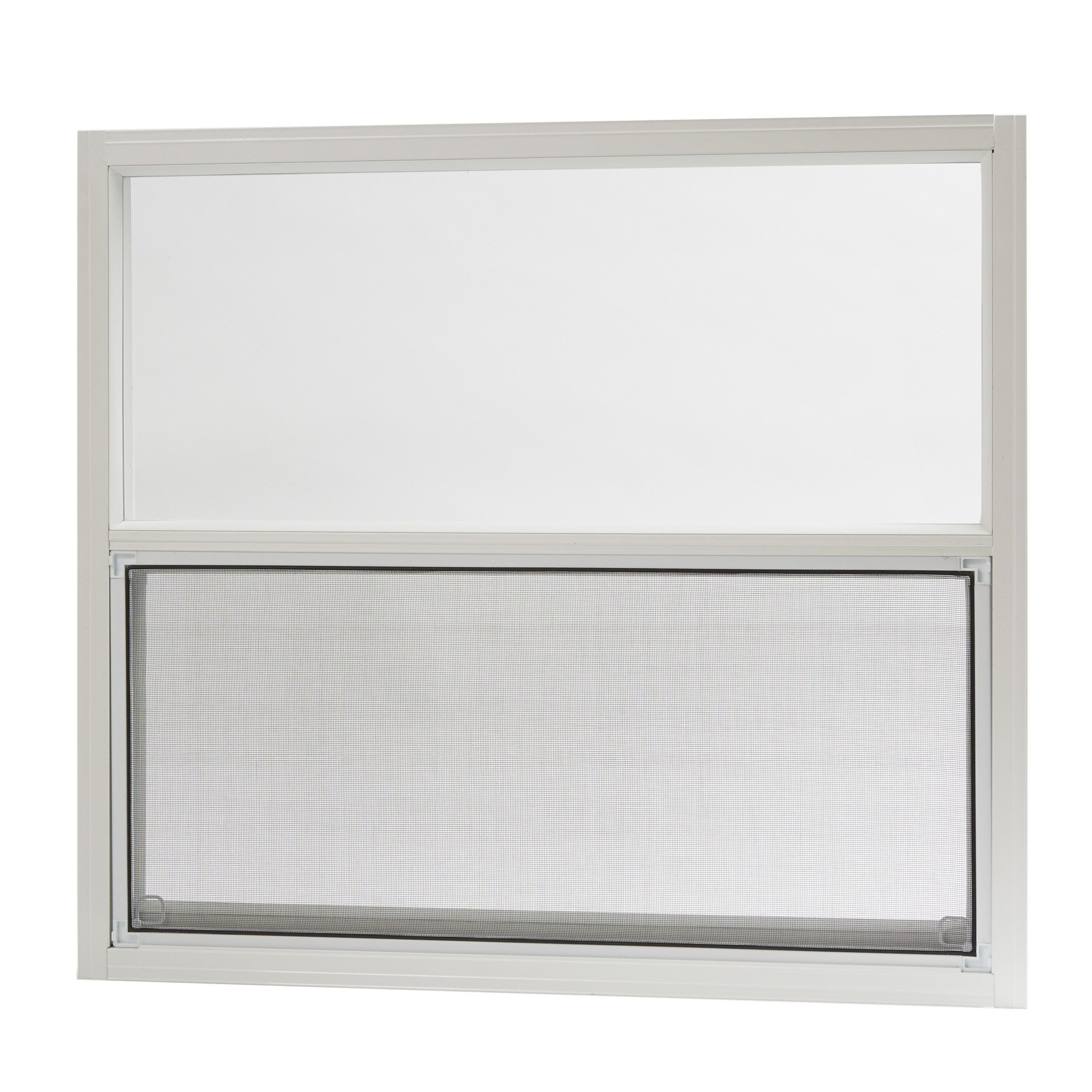 Park Ridge AMHW3027PR Aluminum Mobile Home Single Hung Window 30 Inch x 27 Inch, White