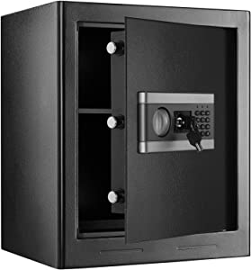 1.53cub Safe Security Box, Fireproof and Waterproof Safe Cabinet, Digital Combination Lock Safe, with Keypad LED Indicator, for Cash Money Jewelry (1.53cub)