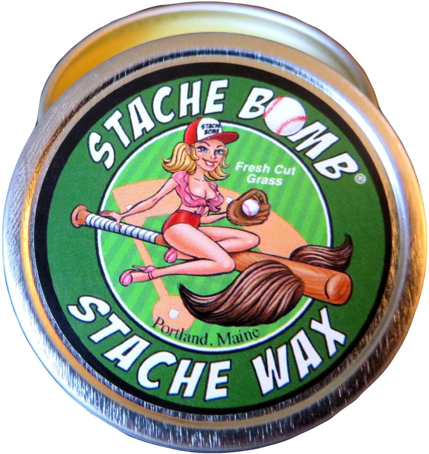 Fresh Cut Grass Stache Bomb Stache Wax- Moustache Wax From Maine