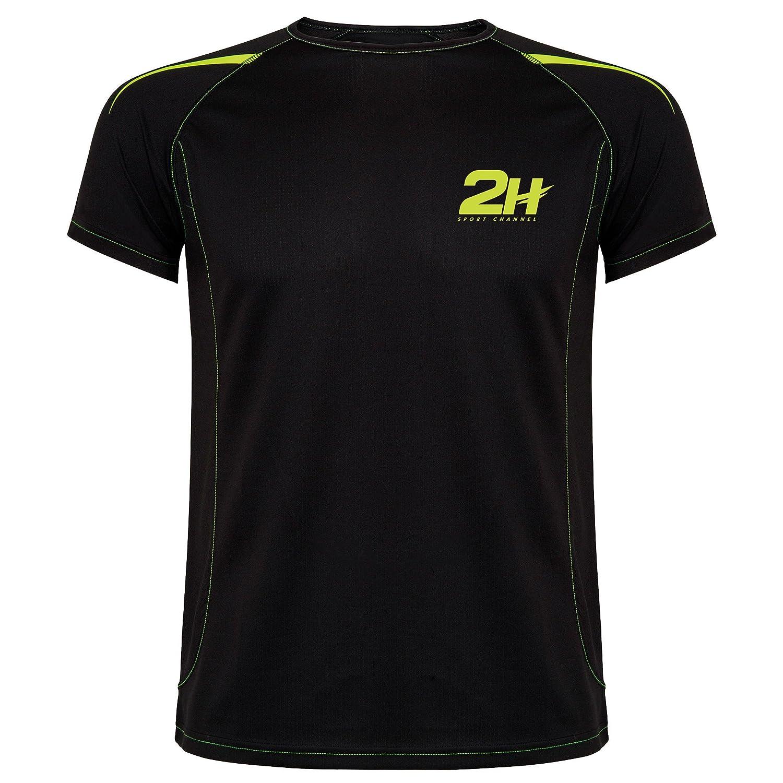 Camiseta técnica de pádel 2H Black JIFC, L: Amazon.es ...