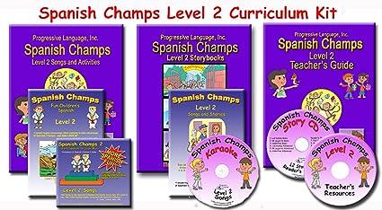 Amazon com : Preschool Spanish Curriculum, Spanish Champs Level 2