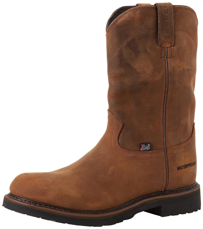 Amazon.com | Justin Original Work Boots Men's Worker II Waterproof ...