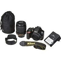 "Nikon D3500 Fotocamera Reflex Digitale con Obiettivo Nikkor AF-S 18/105VR, 24,2 Megapixel, LCD 3"", Nero"