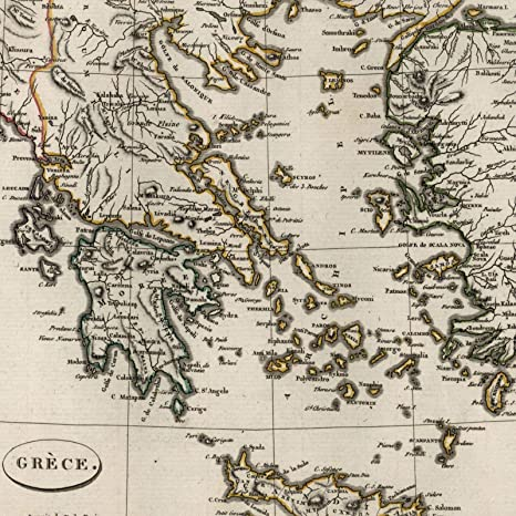 Amazon Com Greece Aegean Sea Turkey Candia Morea 1804 Tardieu