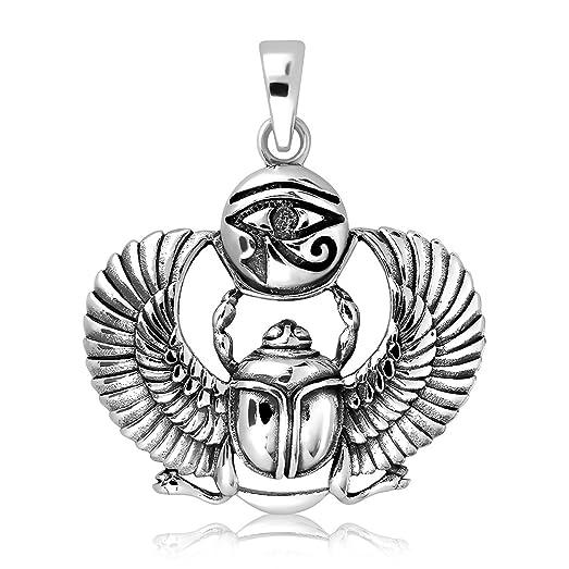 Amazon 925 sterling silver egyptian eye of horus udjat ancient 925 sterling silver egyptian eye of horus udjat ancient sacred scarab beetle pendant aloadofball Gallery