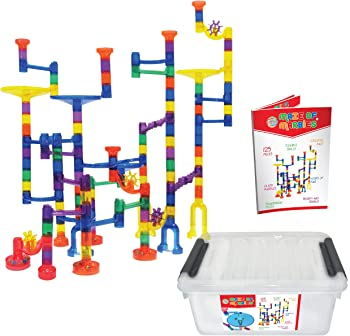 Maze of Marbles 125-Pieces Marble Run Toy Set