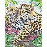Royal & Langnickel CPN10 Dessin Crayon de couleur d'après les chiffres Jaguar au bord d'une mare