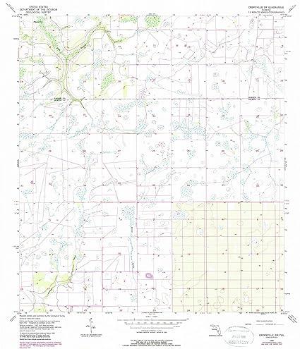 Amazon.com: Florida Maps | 1956 Crewsville, FL USGS Historical ...