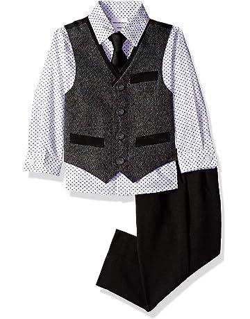 ad637c0f90 Van Heusen Baby Boys  4-Piece Patterned Dresswear Vest Set