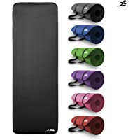 JLL® Yoga Mat Extra Thick 15mm Non-Slip Pilates Workout Exercise Mat available in Black/Blue/Purple/Pink/Green/Red. Also Ideal as Camping Mat.