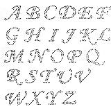 Amazon Com Pick 15 Letters Cursive Alphabet Letters Appx 2 Inches
