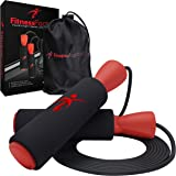 Adjustable Jump Rope with Carrying Pouch for Men and Women - Tangle-Free Skipping Rope for Gym Workout, Crossfit, Fitness Exe