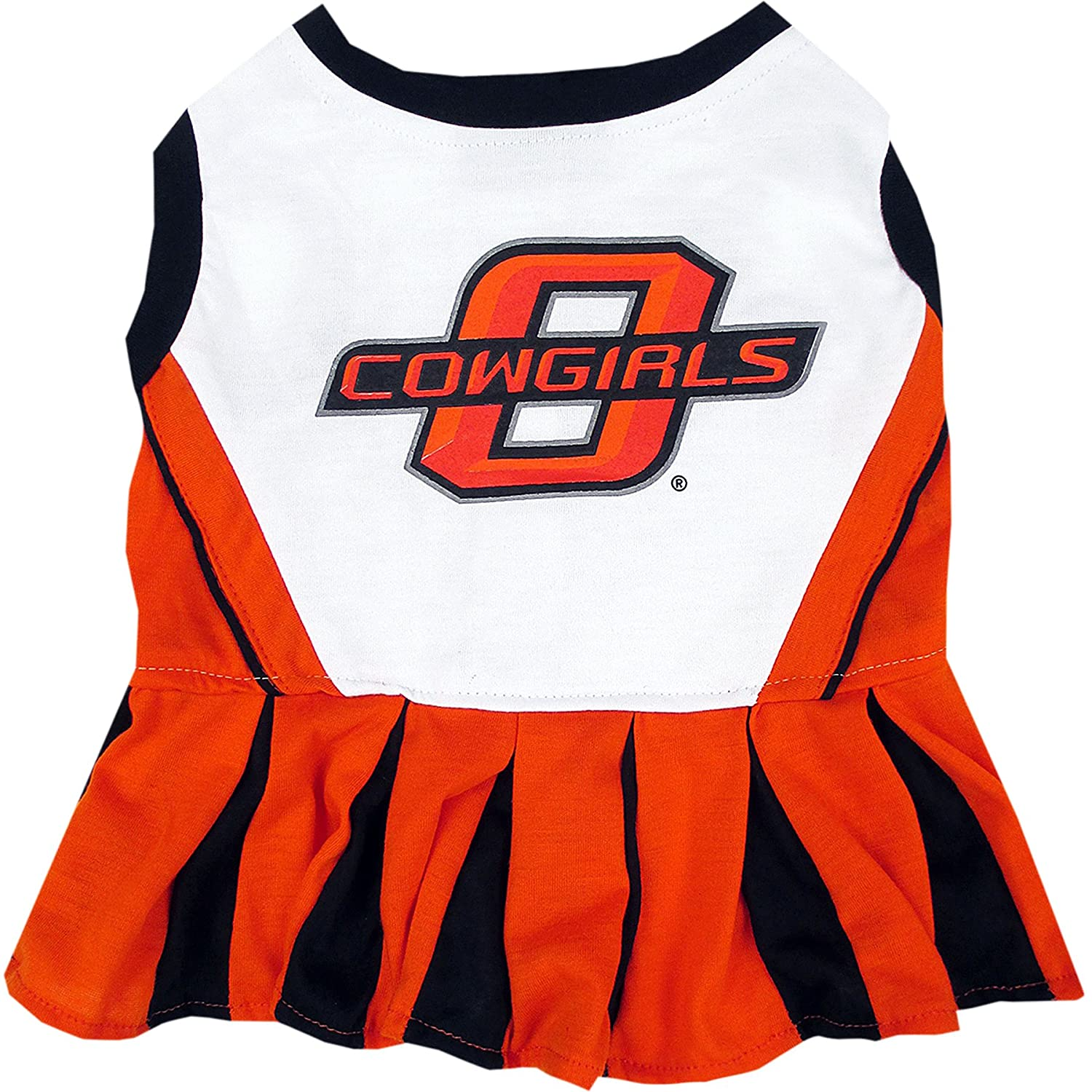 Pets First Oklahoma State Cowboys Cheerleading Outfit Medium OKS-4007-MD