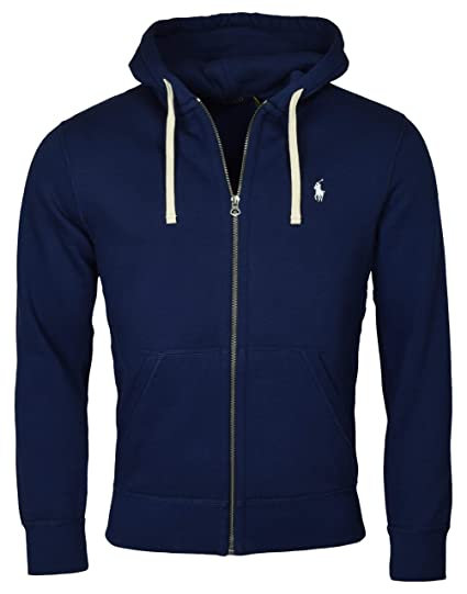 2c4b11265698 Ralph Lauren Polo Classic Full-Zip Fleece Hooded Sweatshirt - M - Navy   Amazon.co.uk  Clothing