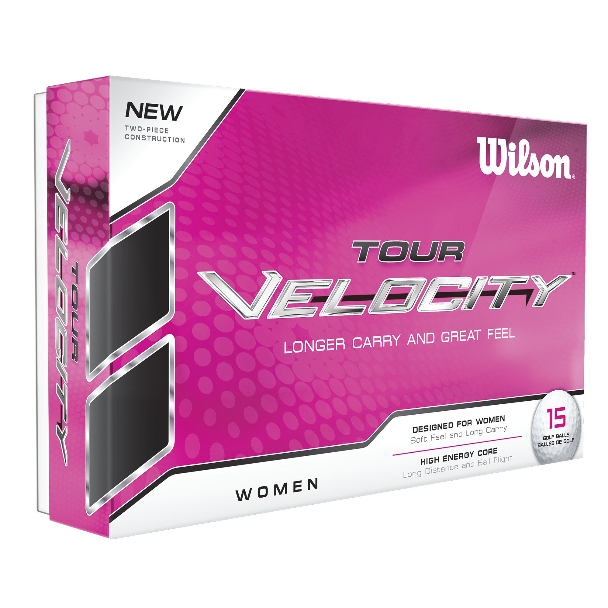 Wilson Women's Tour Velocity Golf Ball (15-Pack), White