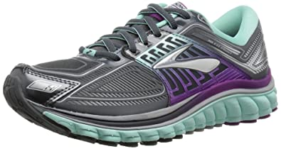 9a16473d993b2 Brooks Women s Glycerin 13 Running Shoe - Anthracite Ice Green Hollyhock -  7.5 B
