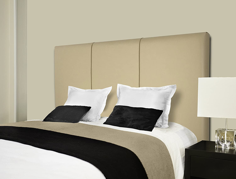 Sermahome Andorra Testiera per letto rivestita in similpelle beige dimensioni: 160/x 55/x 7/cm 110x55x6 camas 80, 90 y 105 cm