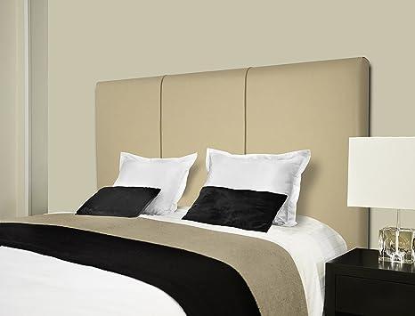 SERMAHOME- Cabecero Andorra tapizado Polipiel Color Beige. Medidas: 110 x 55 x 7 cm (Camas 80, 90 y 105 cm).