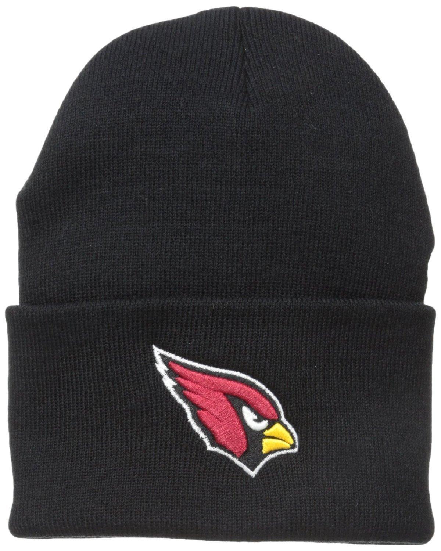 bf2c29373 Reebok NFL Classic Cuff Beanie Hat - Black Cuffed Football Winter Knit  Toque Cap