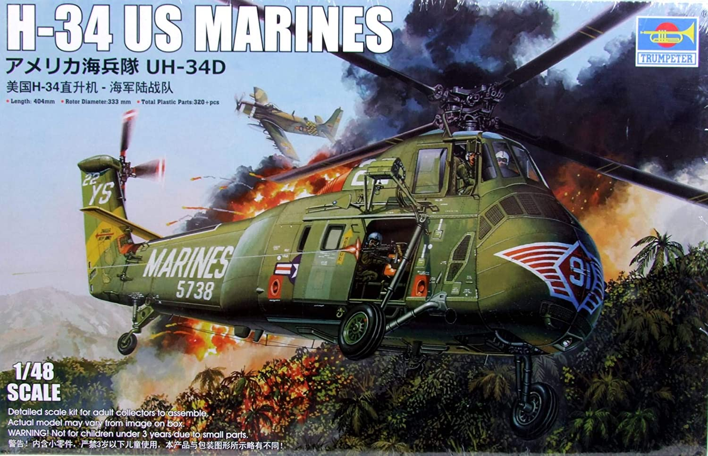 Scatola di Montaggio in plastica H-34 Us Marines Scala 1//48 Trumpeter 02881