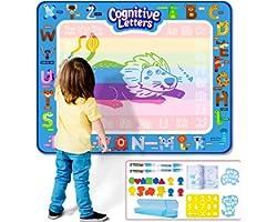 Infinno Aqua Magic Doodle Mat Extra Large Water Drawing Mat Kids Painting Writing Doodle Coloring Mat Educational Toys Gifts