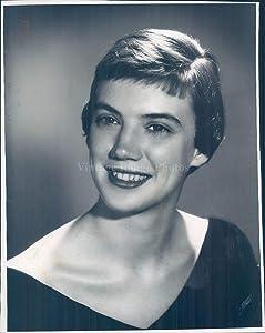 Vintage Photos 1959 Monica Ann Holmes Wedding Beautiful Dress Portrait 8X10