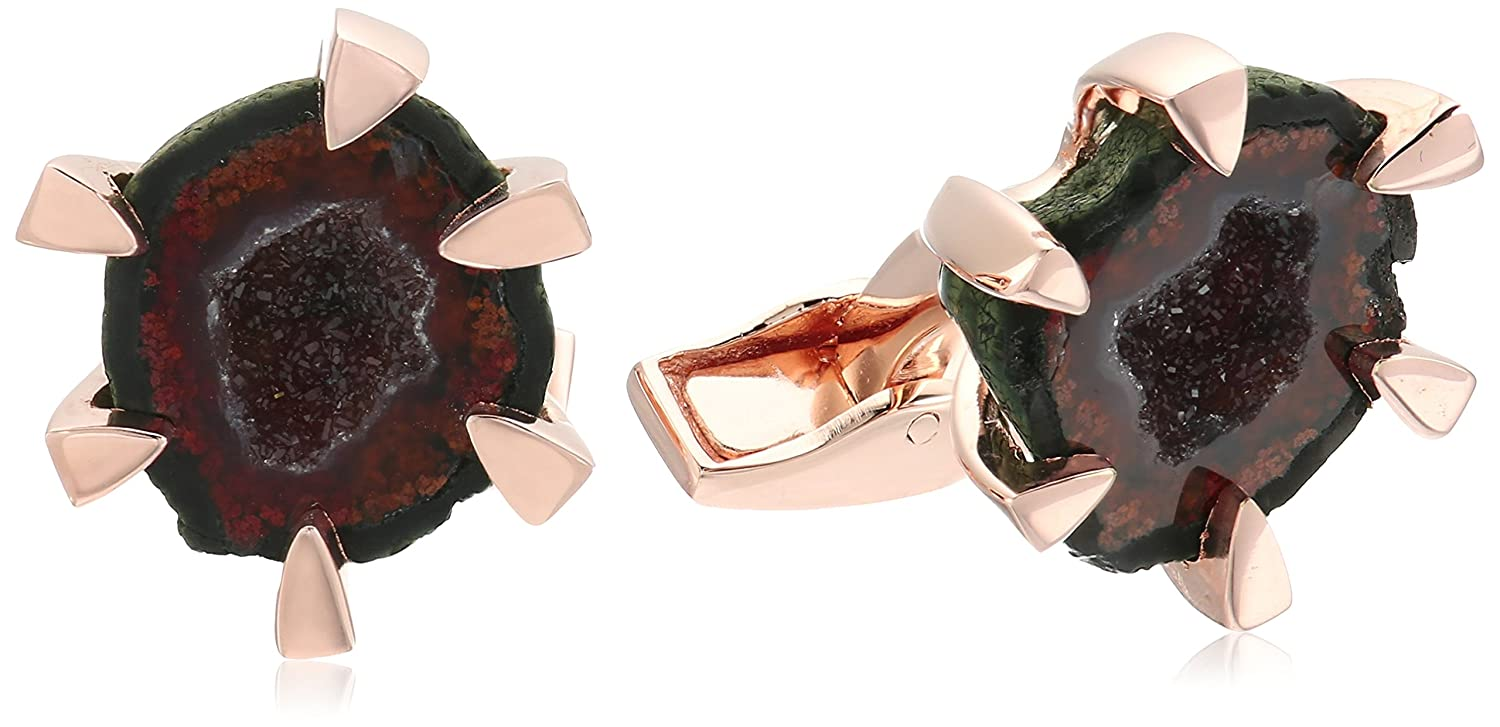 Tateossian Geode Claw Setting Rose Gold Plating 1 Micron Cuff Link Tateossian Jewelry CL5876