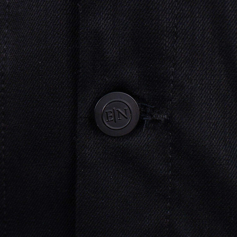 En Noir Mens Raw Cash Hopper Denim Jacket M Black