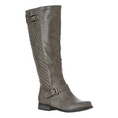 loading boots to quilted brown high itm quilt fliv biker new women knee riding black image s is