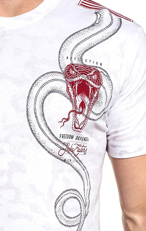 Affliction T-Shirt Snake Eater White