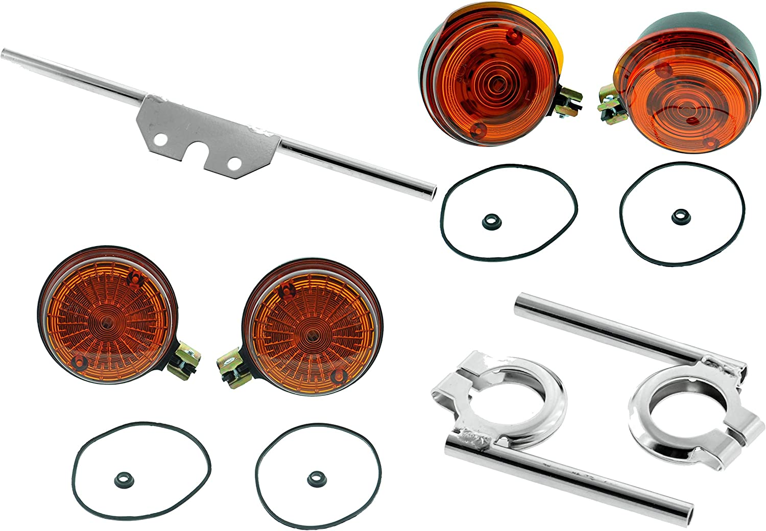 Round Indicator With Holder Chrome S50 S51 S70 With E Mark Set Auto