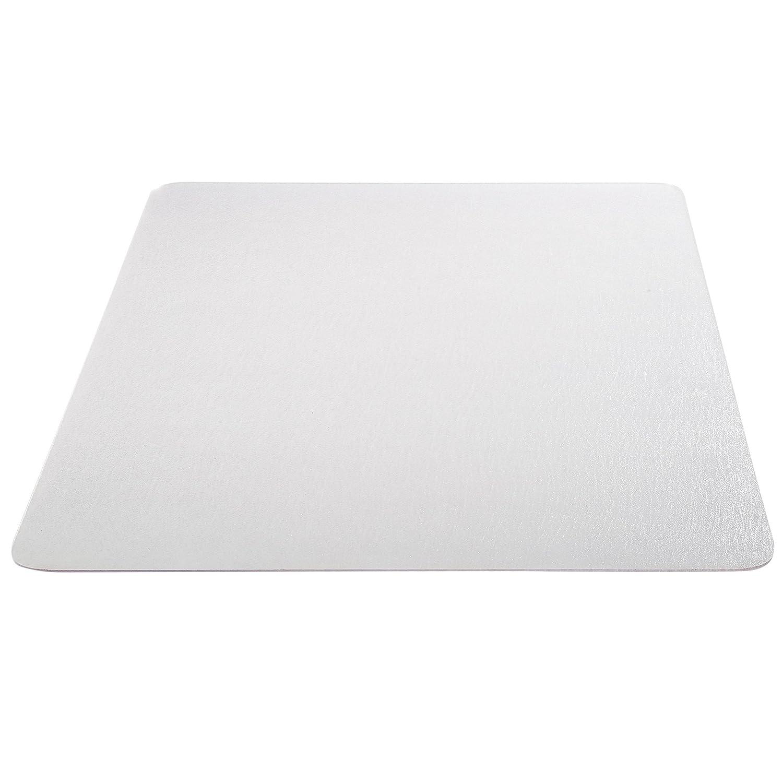 "Deflecto EconoMat Clear Chair Mat, Hard Floor Use, Rectangle, Straight Edge, 46"" x 60"", Clear (CM2E442FCOM) (Renewed)"