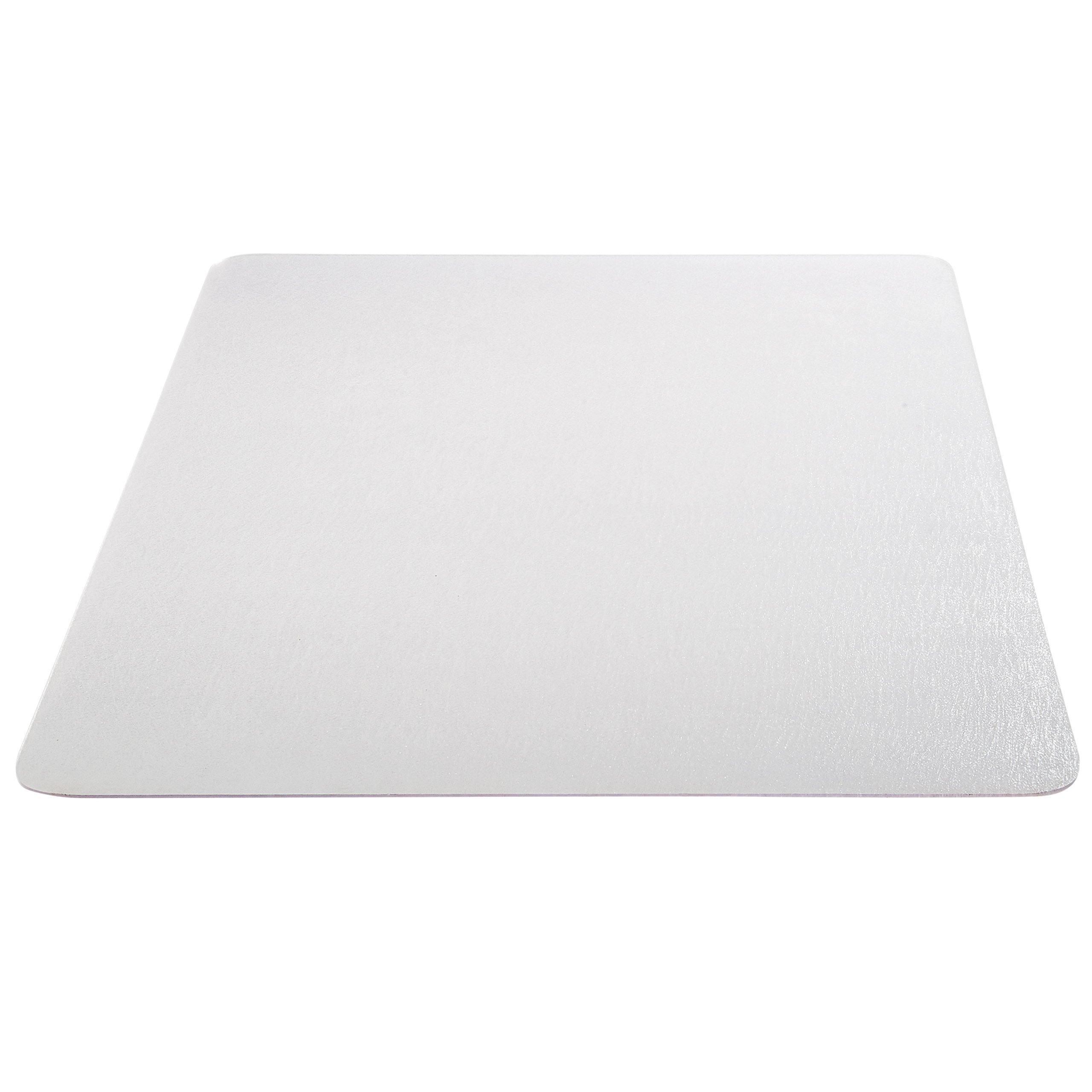 Deflecto EconoMat Clear Chair Mat, Hard Floor Use, Rectangle, Straight Edge, 46'' x 60'', Clear (CM2E442FCOM) (Renewed)
