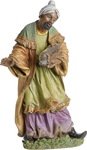 Joseph s Studio by Roman – Colored King Balthazar Figure for 27 Scale Nativity Collection, 26 H, Resin and Stone, Decorative, Collection, Durable, Long Lasting