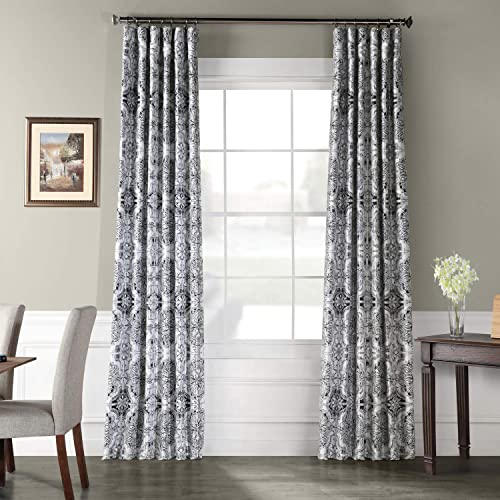 HPD Half Price Drapes PTPCH-170809-120 Designer Printed Blackout Curtain 1 Panel