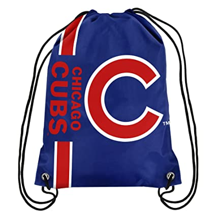 85a5f71bf32 Amazon.com : Chicago Cubs Big Logo Drawstring Backpack : Sports & Outdoors