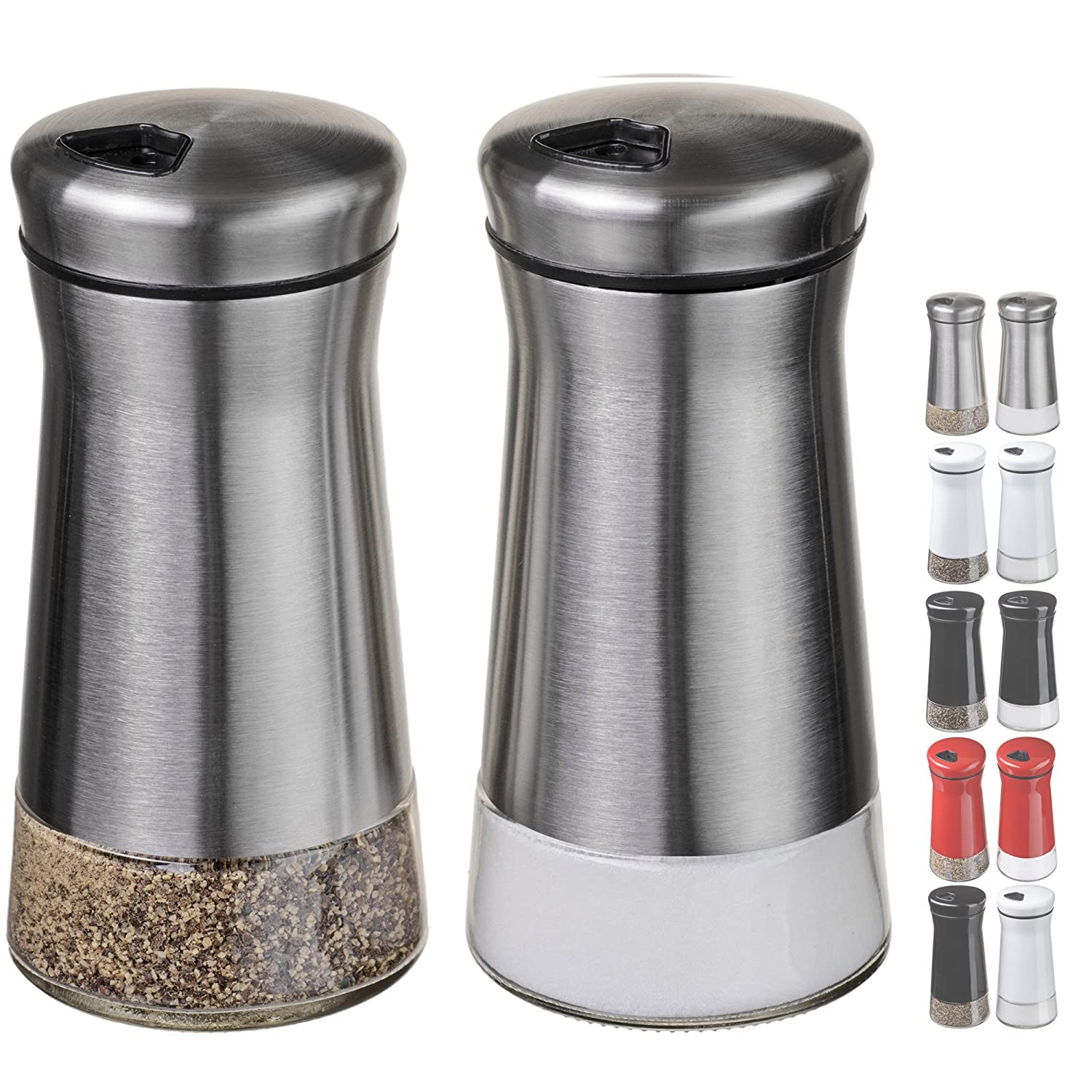 Amazon CHEFVANTAGE Salt and Pepper Shakers Set with Adjustable