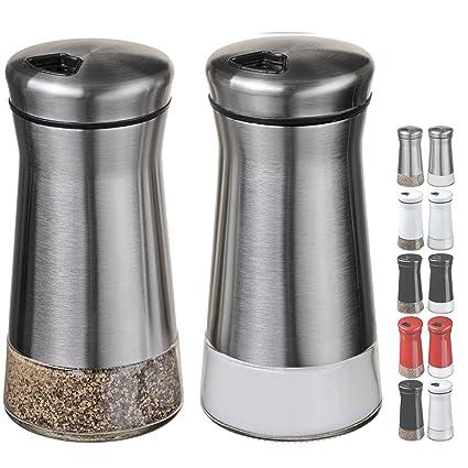 Amazoncom Chefvantage Salt And Pepper Shakers Set With Adjustable