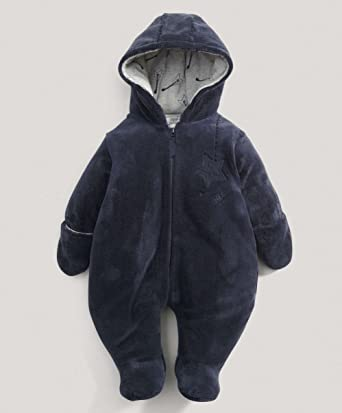 7725d0c8c Mamas   Papas - Boys Blue Fur Pramsuit  Mamas   Papas  Amazon.co.uk ...