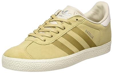 on sale d6683 13702 adidas Unisex-Kinder Gazelle Fashion Sneaker, Braun (Linen Khaki Clear  Brown