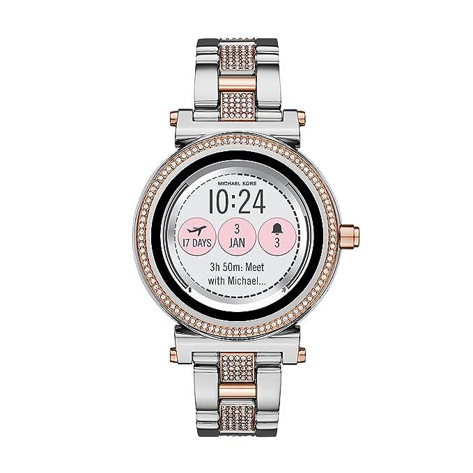 Michael Kors Reloj Analogico para Unisex de Cuarzo con Correa en Acero Inoxidable MKT5040: Amazon.es: Relojes