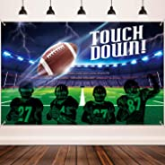 Football Party Decoration Supplies, Large Fabric Football Scene for Touch Football Down Party Supplies, Football Field Photo