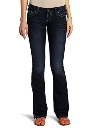 Amazon.com: Silver Jeans Women's Frances 18 Bootcut Jean, Dark ...