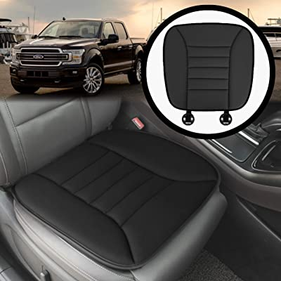 KMMOTORS Car Seat Cushion Pad Memory Foam for Car Seat, Office Chair Pain Relief Seat Cushion Comfort Seat Protector with Anti-Slip Bottom Seat Cushion: Home & Kitchen