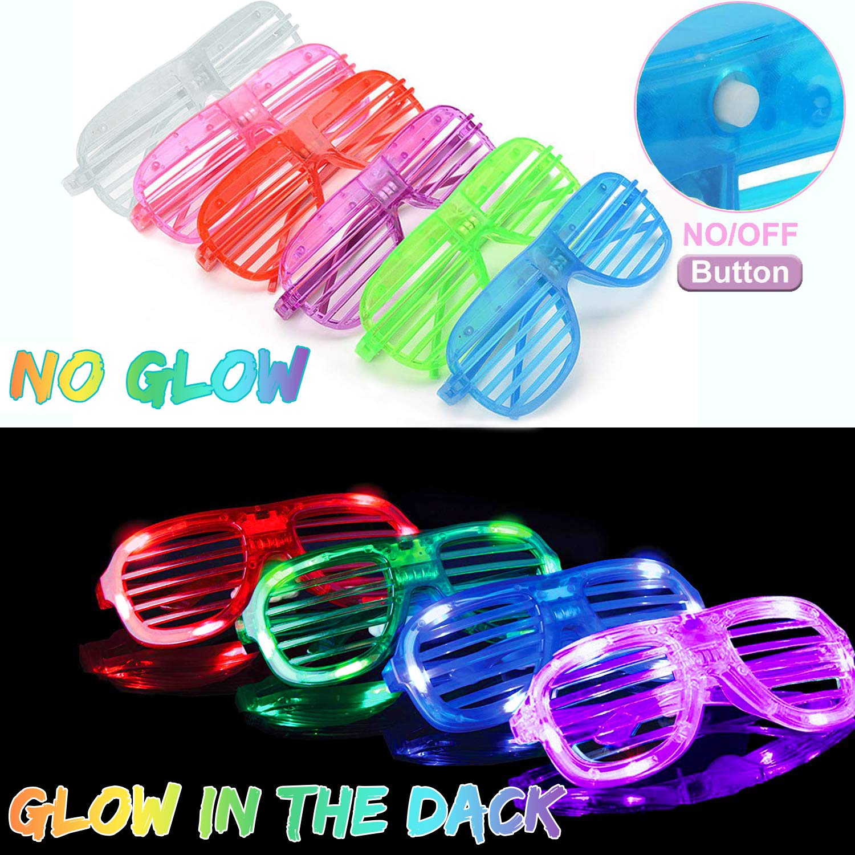 Amazon.com: Pack de 50 gafas LED [Super Set] Glow in the ...