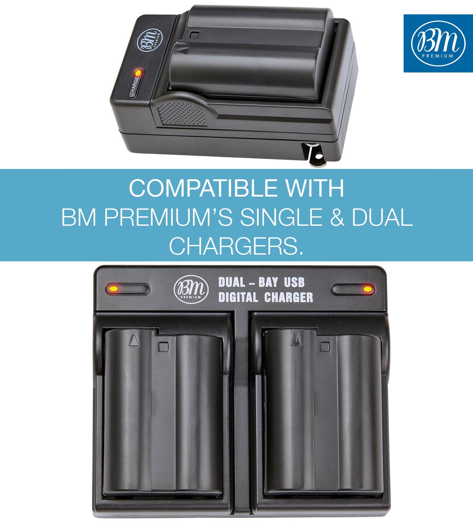 BM Premium EN-EL15 Battery for Nikon D850, D7500, 1 V1, D500, D600, D610, D750, D800, D800E, D810, D810A, D7000, D7100, D7200 Digital SLR Camera by BM Premium (Image #4)
